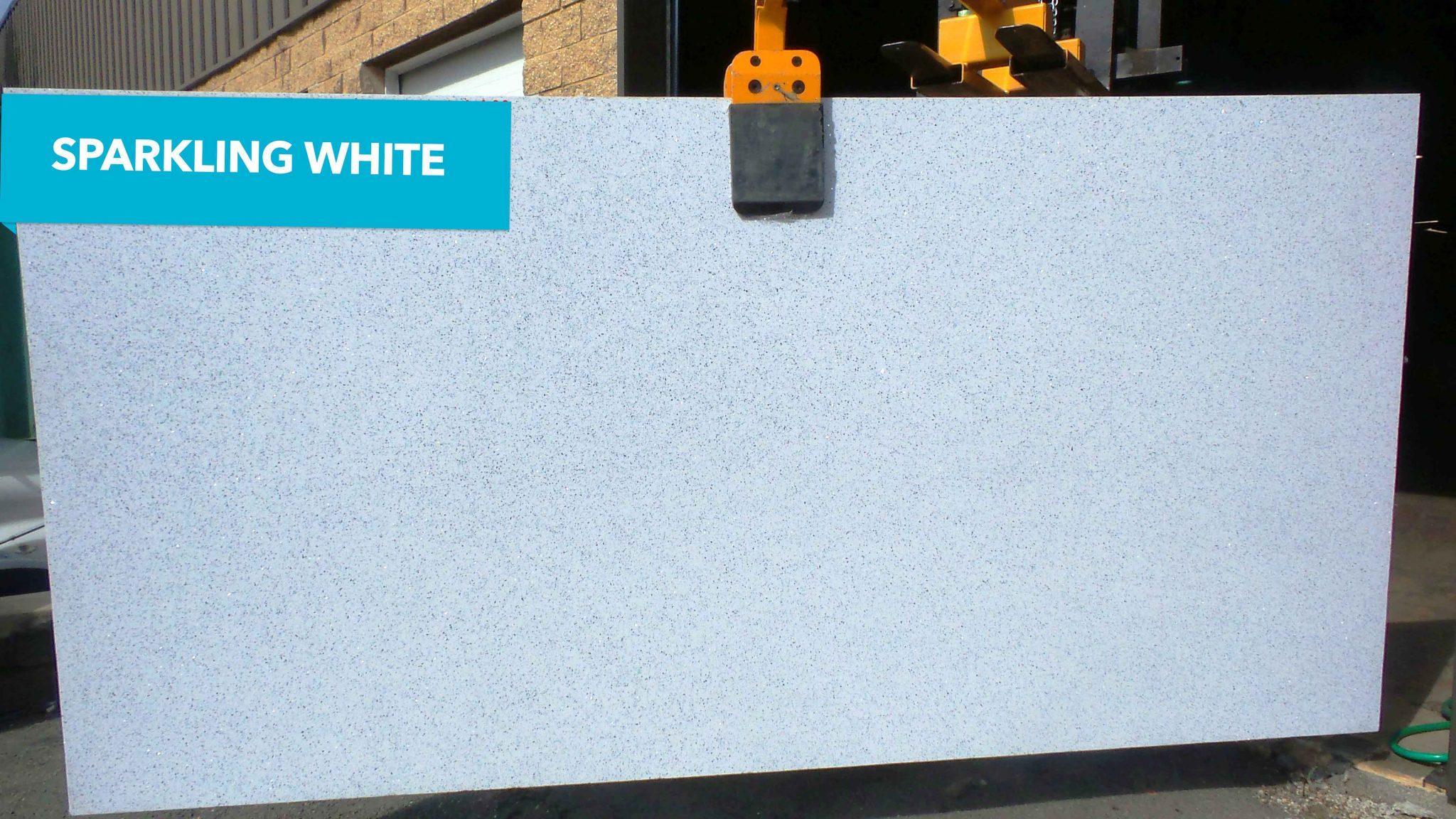 Sparkling White Quartz Absolute Kitchen Amp Granite