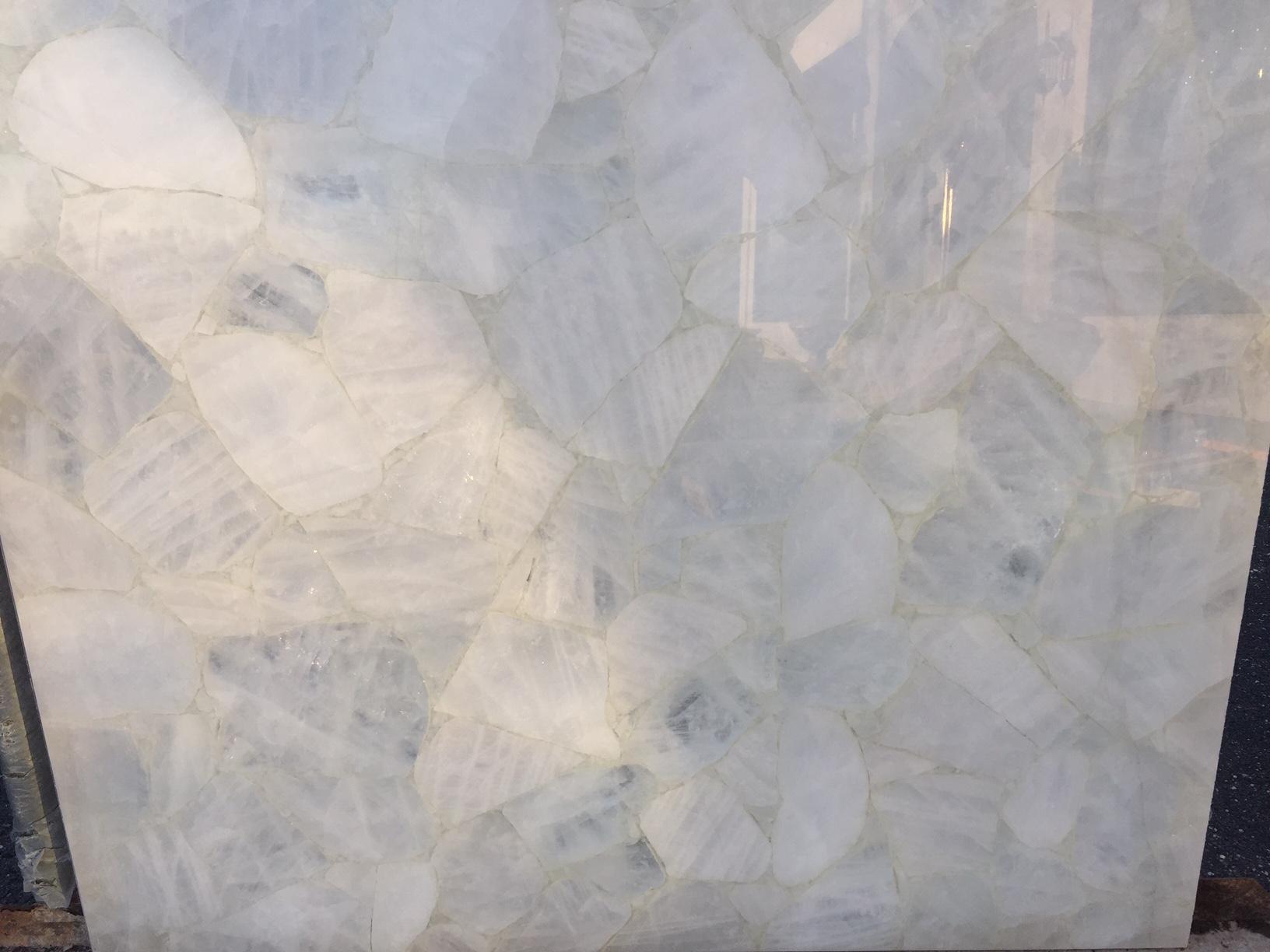 White quartz precious stone 34in x 32in 2cm absolute for 2 thick granite
