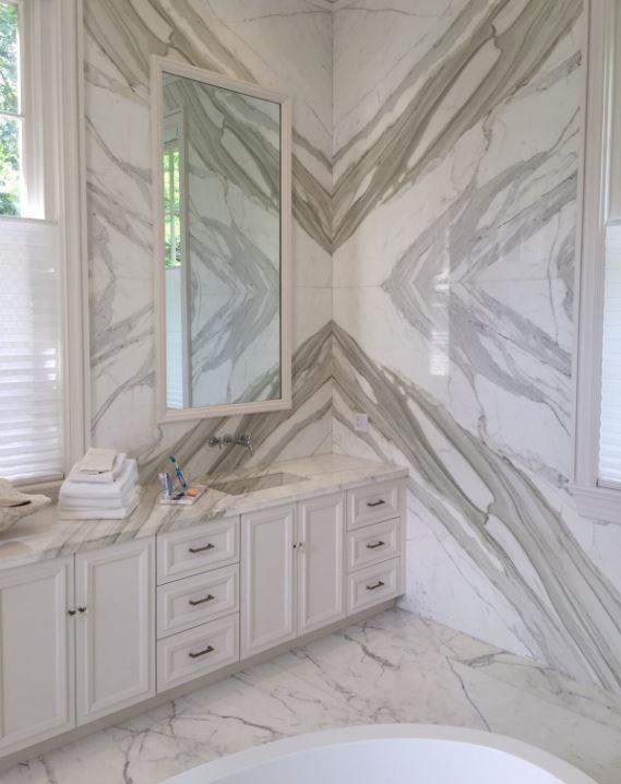 Calacatta Borghini Bathroom – Absolute Kitchen & Granite