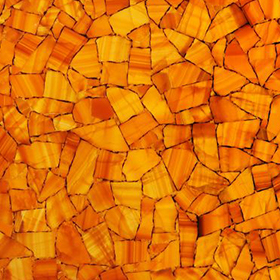 Calcite Orange Backlit