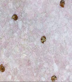 Quartz Pink With Ammonites