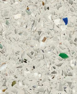 vetrazzo, umbo white, recycled glass